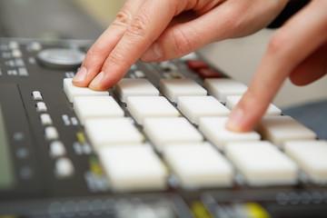 Hip hop beat maker producer make a beat