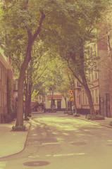 New York city. Street Old style image. Vintage
