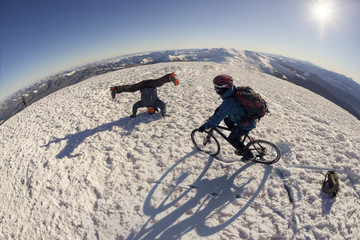 Extreme cyclist and Goverla
