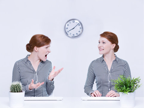 Anger and self-control of employee