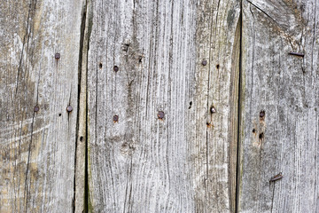 Old wooden boards with nails. Background..