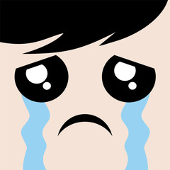 cry face draw