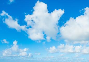Cumulus clouds in Sardinia