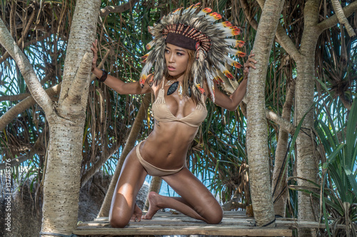 Native American Art Of Nude Native Girls