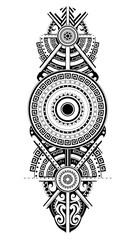 Ornamental tattoo in Maori style