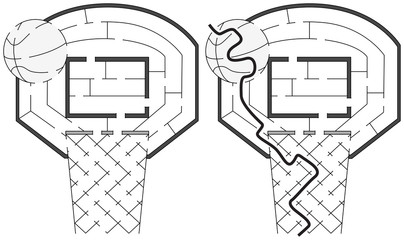 Easy basketball maze