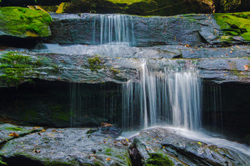 Aluminium Prints Roe Waterfall in deep forest, where there is an abundance of nature.