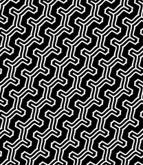 Vector seamless pattern. Modern stylish texture. Repeating geometric pattern of curved lines.