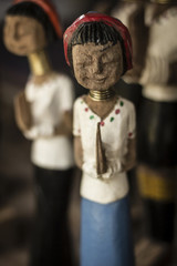 Handmade Long Neck Doll in Baan Nai Soi, Northern Thailand