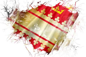 Grunge old alsace flag