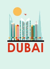 Dubai travel background