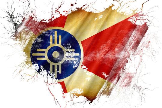 Grunge old Wichita flag