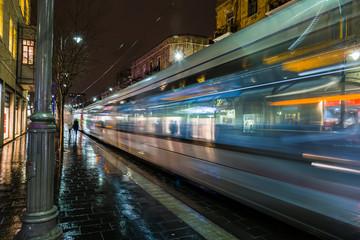 JERUSALEM, ISRAEL Light Rail tram train . is the