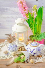 Spring floral still life with hyacinth