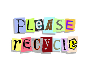 Please Recycle Paper Letters