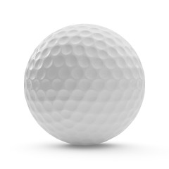 3d rendering golf ball isolated on white