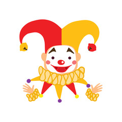 Clown vector characters isolated on white background