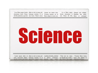 Science concept: newspaper headline Science