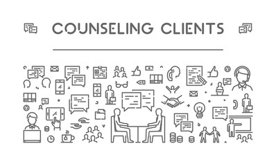 Line web banner for counseling clients