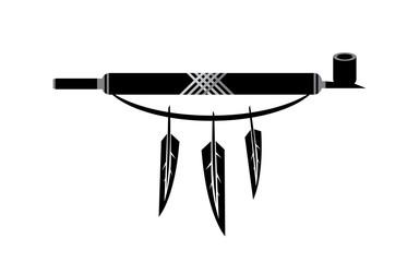 peace pipe illustration vector design
