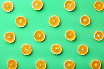 Colorful pattern of orange slices