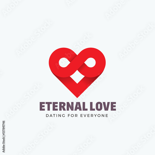Eternal Love Abstract Vector Sign Emblem Or Logo Template Infinity