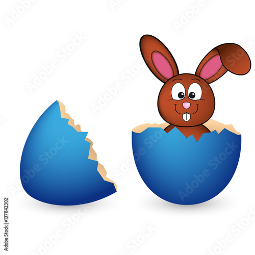 Coniglietto pasquale che esce dall 39 uovo rotto immagini e - Modelli di coniglietto pasquale gratis ...