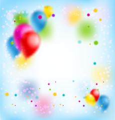 Blur happy birthday banner