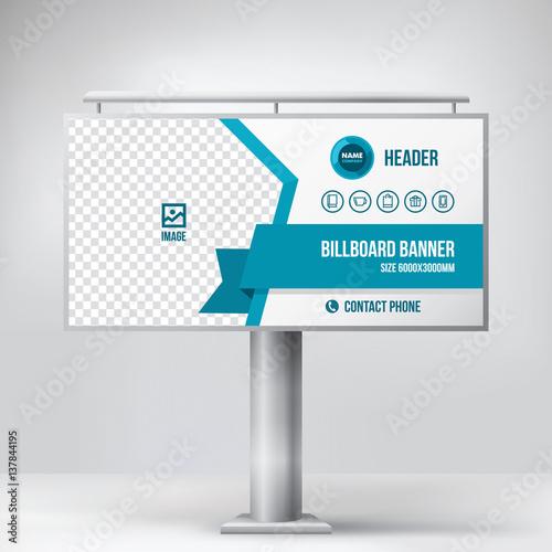 Billboard design, multipurpose banner template for posting photos ...
