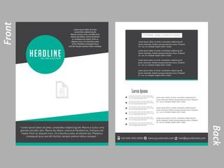 creative vector template design illustration for Business Brochures or Flyer.