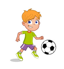 boy playing football
