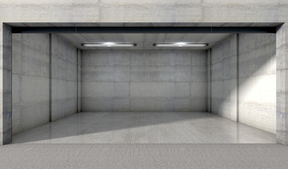 Empty Double Garage