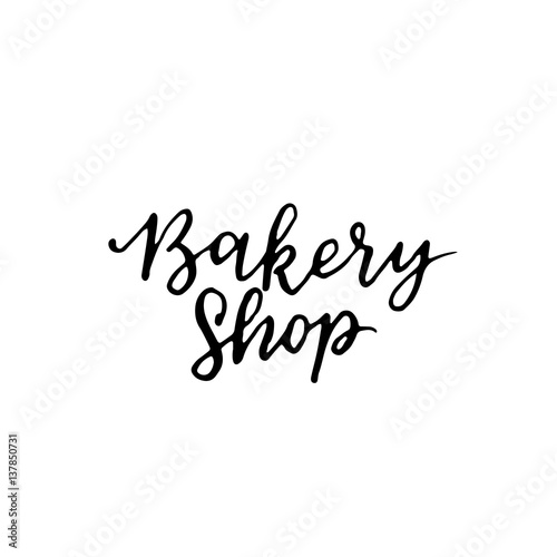 Quot vector vintage bakery hand lettering logo badge