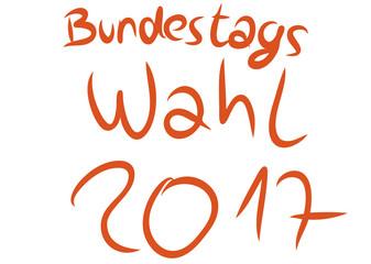 Schrift Bundestags Wahl 2017
