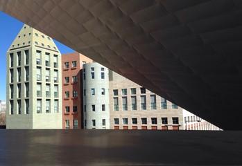 Blick auf Fassaden von Bürogebäuden in Denver, Colorado, USA