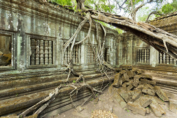 Beng Melea ancient site in Cambodia