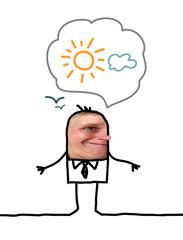 Cartoon people - Optimistic man