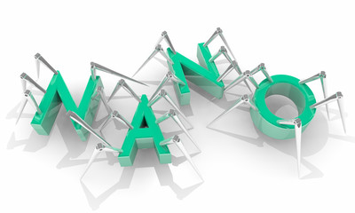 Nano Micro Technology Biology Spider Bots 3d Illustration