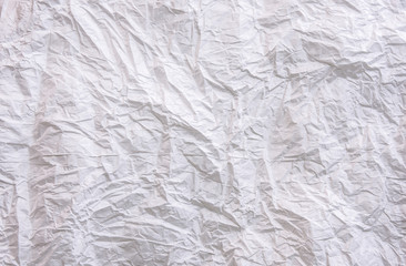 background White crumpled paper