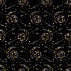 Celestial bohemian pattern