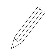 figure pencil color icon, vector illustration design