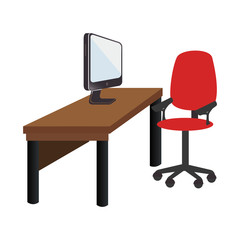 workplace accesories flat icons vector illustration design
