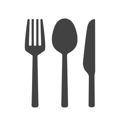Fork spoon and knife vector isolated