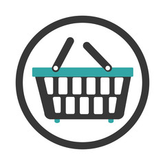 basket shopping commercial icon vector illustration design