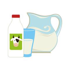 milk jar isolated icon vector illustration design