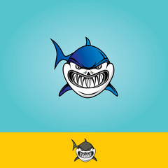 Angry Shark Vector Logo