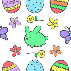 Doodle of easter colorful design