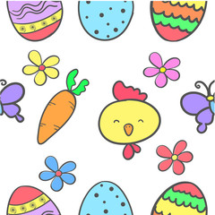 Doodle of easter egg colorful