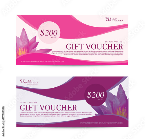 Wellness Spa Yoga Banner Template Flyer Menu Cover Vector - Wellness flyer templates free