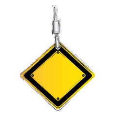 crane hook holding tools blank warnings image, vector illustration image design